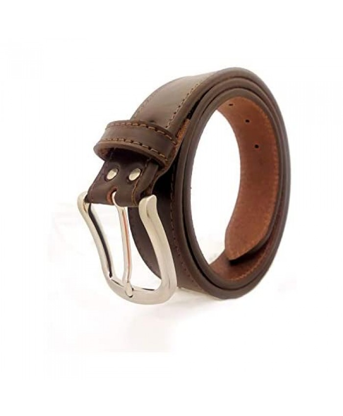 Nazzaro Monfardini || Men's Weapon Leather Belt - Classic 8 design - Top Italian cow leather - Made in Italy