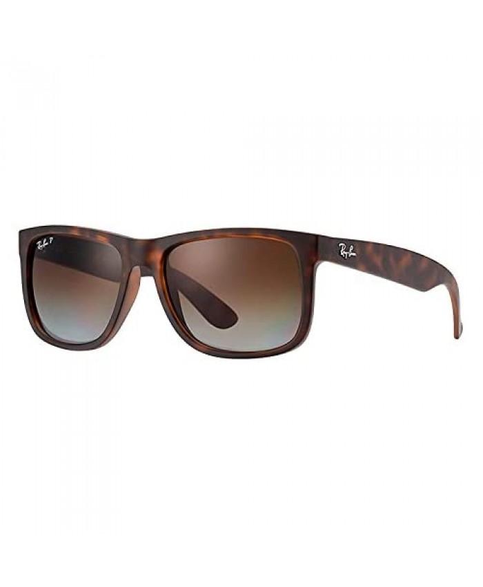 RB Justin Sunglasses (55 mm Matte Tortoise Frame Polarized Brown Lens)