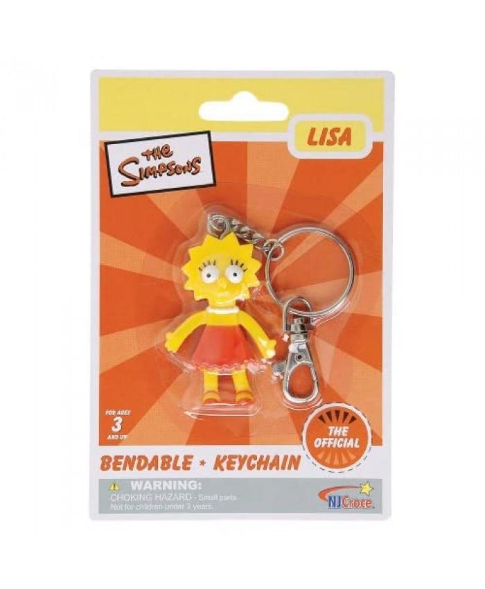 Simpsons Lisa Simpson Bendable Keychain