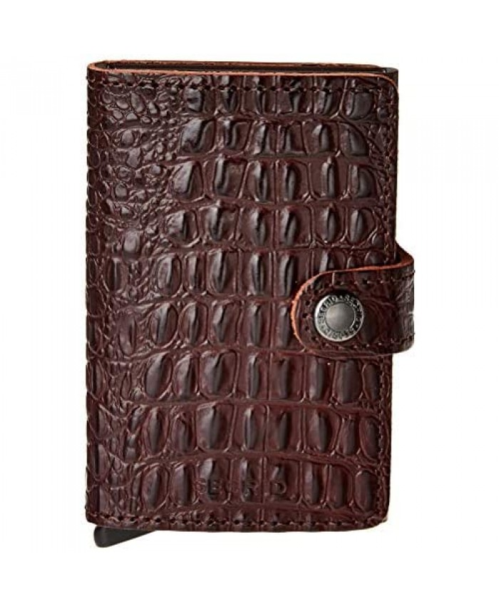 Secrid Mini Wallet Nile Genuine Leather RFID Safe Holds up to 12 Cards