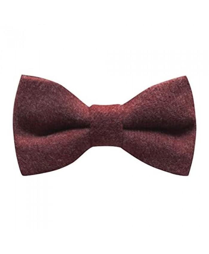 Luxury Maroon Red Donegal Tweed Bow Tie Tweed