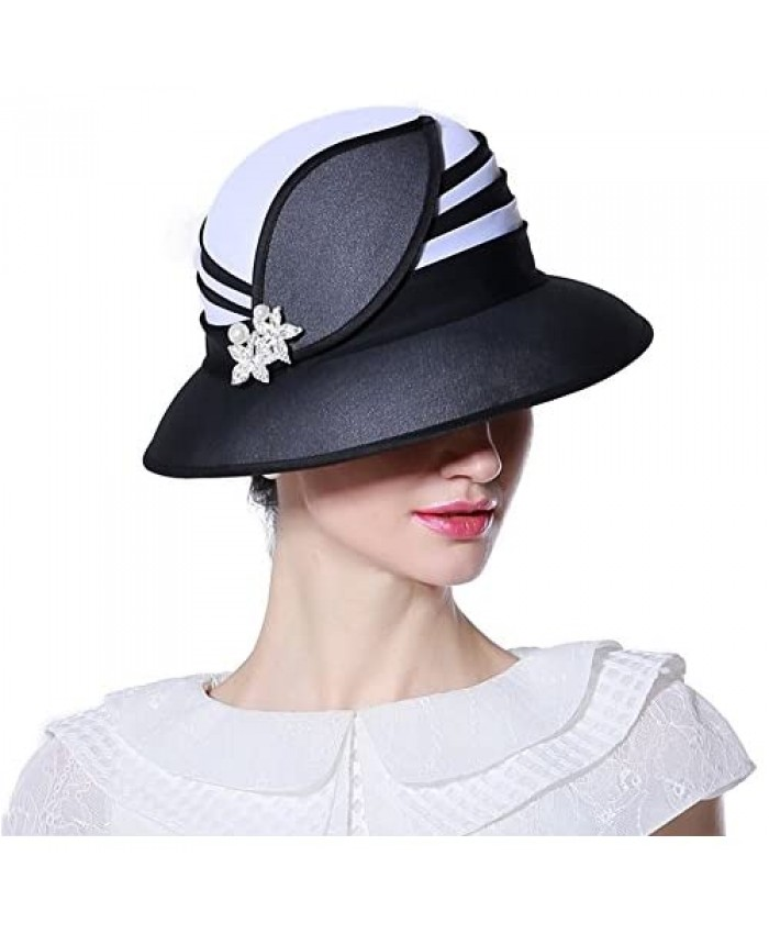 June's Young Girl Hats Lady Hats for Church Women Fashion Show with Dress