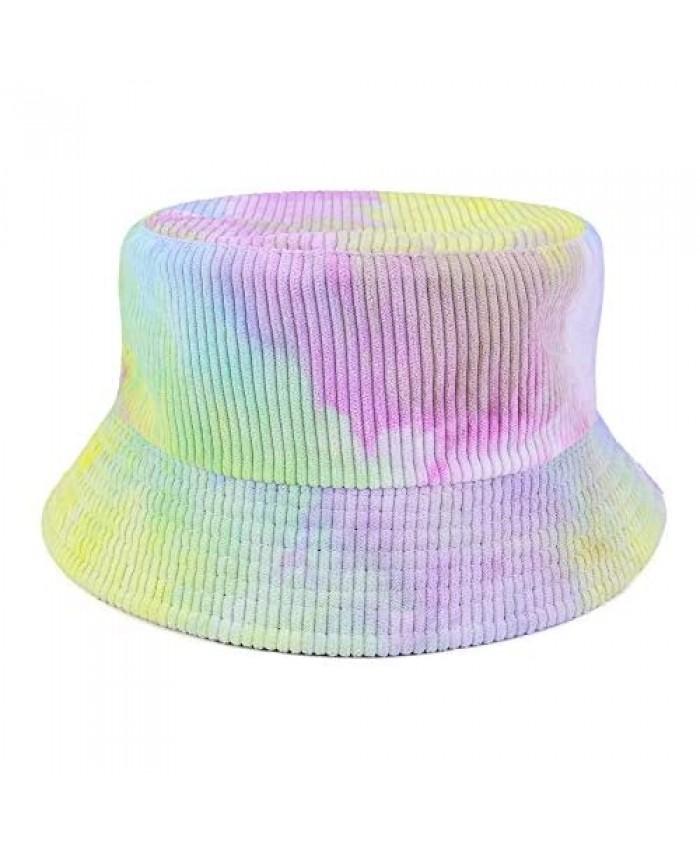 Ayliss Women Bucket Hat Fashion Reversible Cotton Fisherman Hat Packable Outdoor Sun Protection Travel Beach Sun Cap Hat