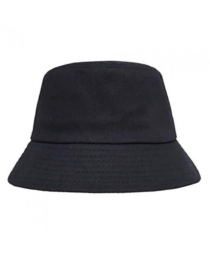 Bucket Hat Unisex Sun Uv Protection Wide Brim Cap Fishman Hat for Outdoor Black