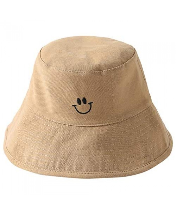 Smiling Face Smile Bucket Sun Hats Beach UV Protection Packable Women Teens Girl